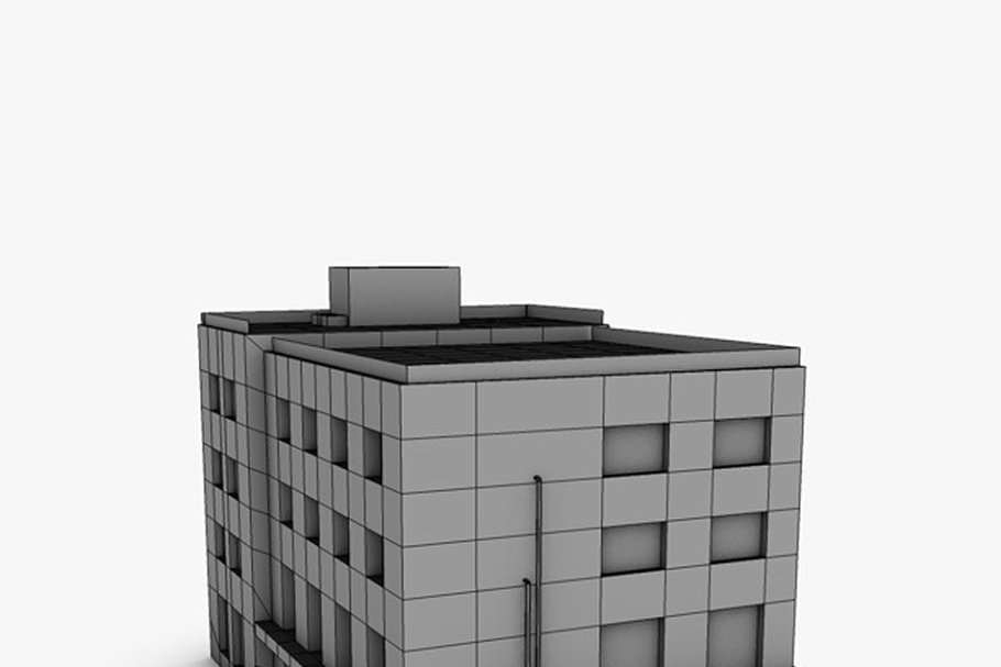 Low poly building in Urban - product preview 5