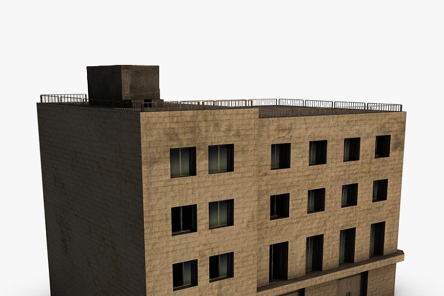 Low poly building in Urban - product preview 6