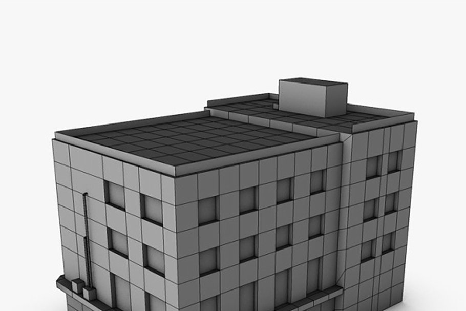 Low poly building in Urban - product preview 7
