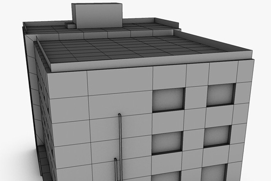 Low poly building in Urban - product preview 8