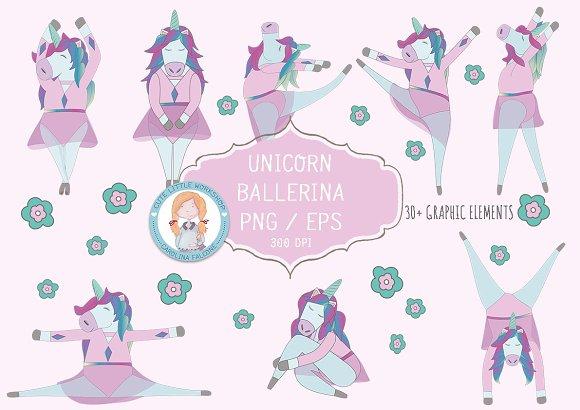 Unicorn Ballerina Vector Set