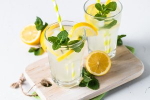 Lemonade summer cold drink.