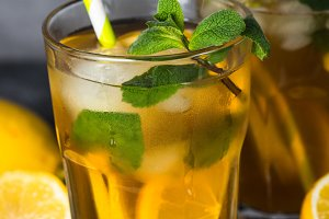 Iced tea. Cold summer drink.