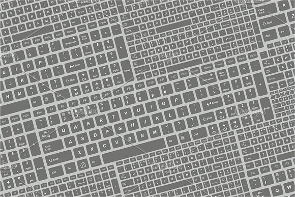 Seamless Keyboard Pattern
