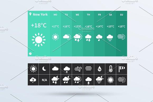 Weather Widget Ui Set