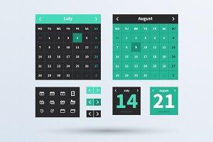 Calendar UI set.