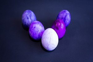 Purple easter eggs