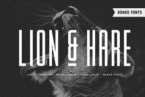 Lion & Hare Font + Bonus Fonts!