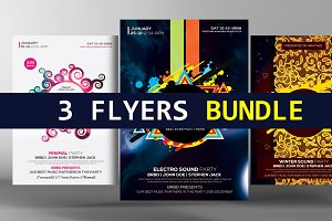3 Party Flyer Bundle