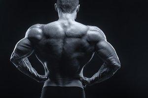 Bodybuilder. Muscular back
