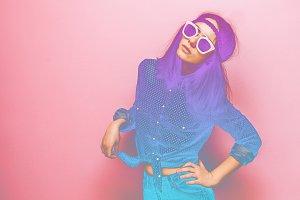 neon woman
