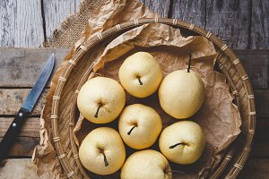 Fresh Asian pears