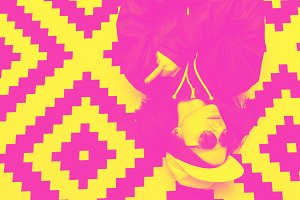 yellow and pink double color effect