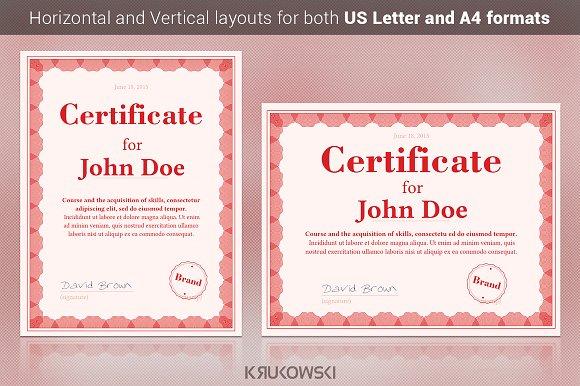 50 Certificate Templates To Design Stunning Awards Creative Market