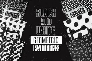 Black and White Geometric Patterns