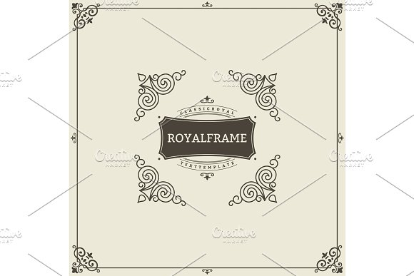 Ornament Design Invitation Template Vector Flourishes Calligraphic Vintage Frame Good For Luxury Boutique Brand Wedding Shop Hotel Sign
