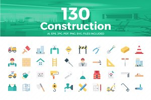 Construction Color Vector Icons Set