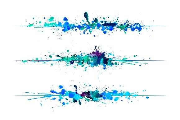 Watercolor Splash Lines