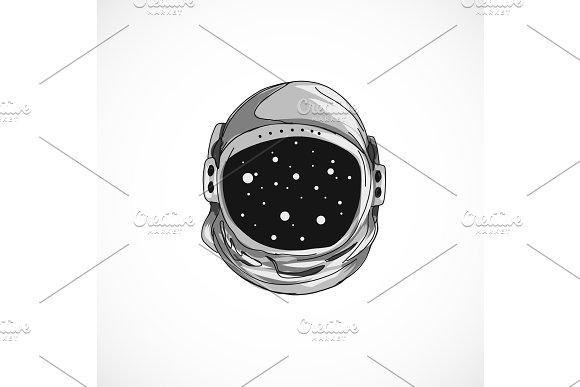 Hand Drawn Astronaut