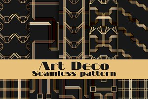 10 Art deco seamless patterns