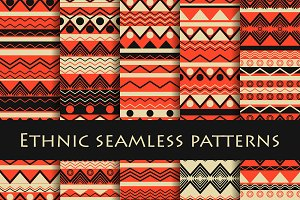 Ethnic seamless patterns set