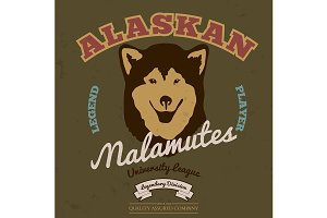 Alaskan malamute club. Tee graphic