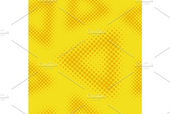 Yellow Seamless Halftone Background Vector