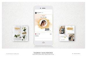 Gold Brush- Social Media Pack