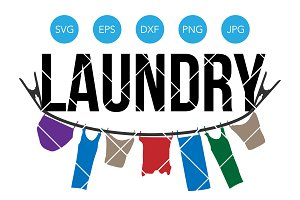 Laundry SVG Cutting File for Cricut