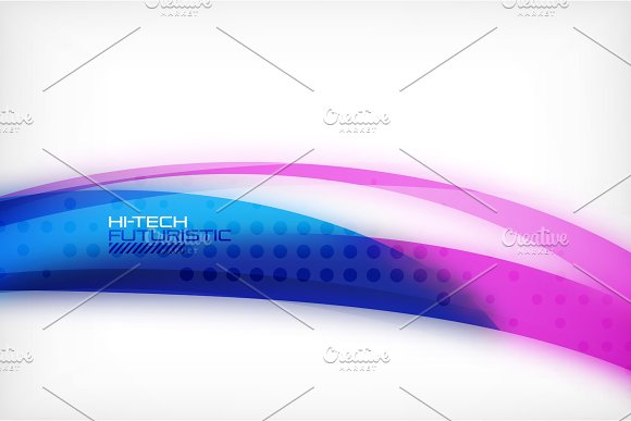 Glossy Wave Vector Background