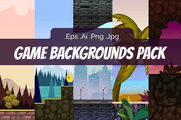 Fresh Game Backgrounds Pack