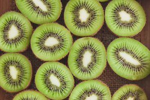 Background from green kiwis