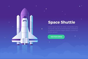 Space Shuttle Banner