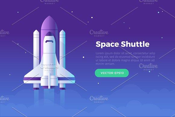 Space Shuttle Banner