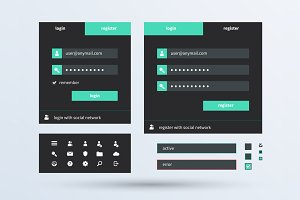 UI set of beautiful web components