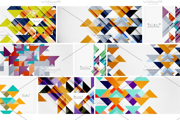 Triangle Templates Mega Collection Abstract Background Designs For Banners Business Backgrounds Presentations