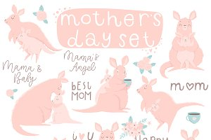 Mother's Day - kangaroo set