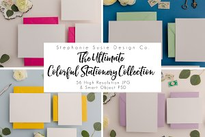 Colorful Stationery Mock Up Bundle