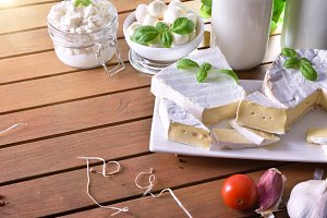 Cream cheese in rustic table top