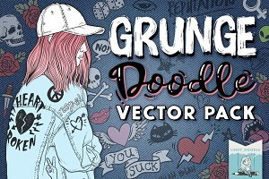 Grunge Graffiti Doodles Vector Pack