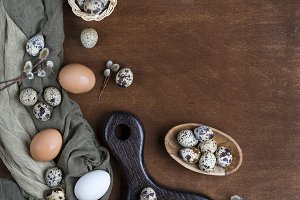 Easter eggs in chicken and quail