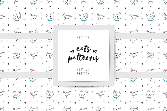 Funny Cats 10 Patterns