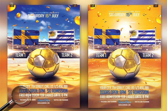 Summer Soccer Cup 2in1 Sunny Flyer