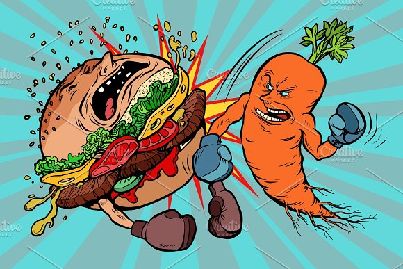 Carrots Beats A Burger Vegetarianism Vs Fast Food