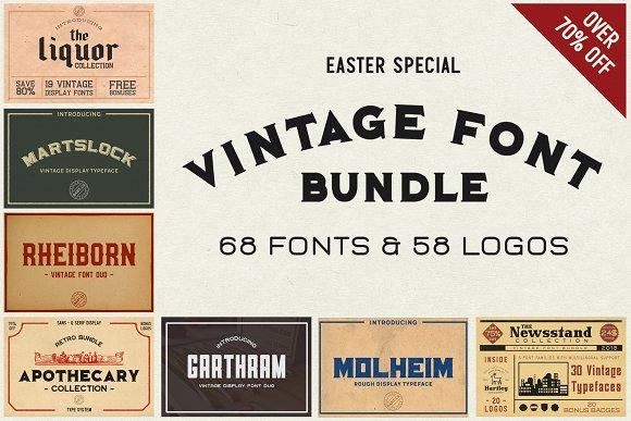 Easter Vintage Font Bundle