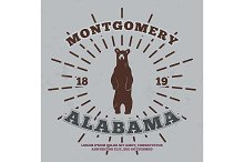 Montgomery, Alabama. t-shirt graphic