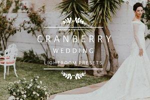 CRANBERRY Wedding Lightroom Presets