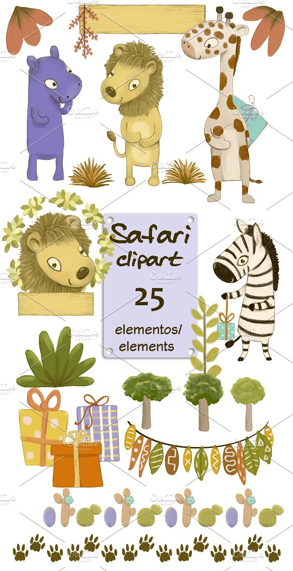 Safari Party Clipart Pack