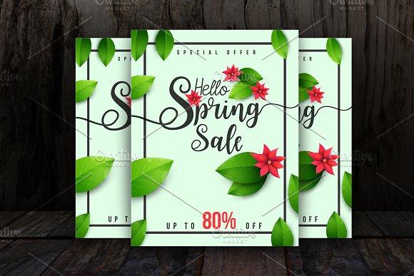 Spring Sale Flyer Template
