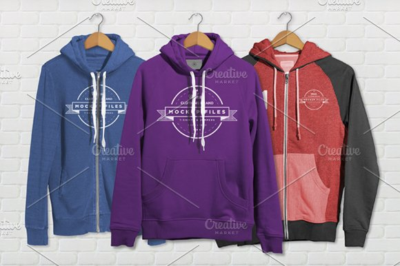 Download Triple Hoody Mockups